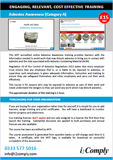 Asbestos Awareness Online Training Course