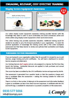 Display Screen Equipment Awareness Online Training Course