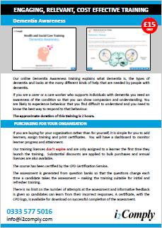 Dementia Awareness Online Training Course