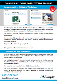 First Aid in the Workplace Online Training Course