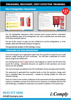 Fire Extingisher Awareness Flyer