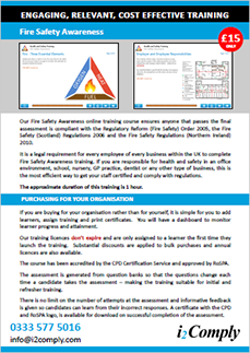 Fire Safety Awareness Flyer