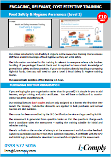 Food Hygiene and Safety (Level 1) Online Training Course