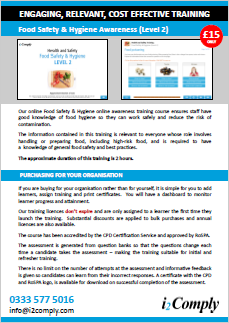 Food Hygiene and Safety (Level 2) Online Training Course