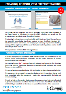 Infection Prevention and Control Flyer