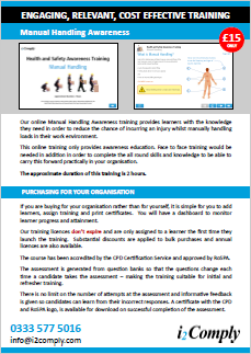 Manual Handling Awareness Online Training Course