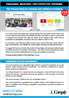 The Prevent Duty for Schools and Childcare Providers course