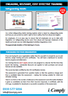 Safeguarding Adults (Level 2) Online Training Course