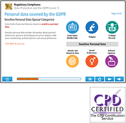 Data Protection and the GDPR (Level 1) Online Training Course