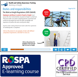 Working at Height Awareness Online Training Course