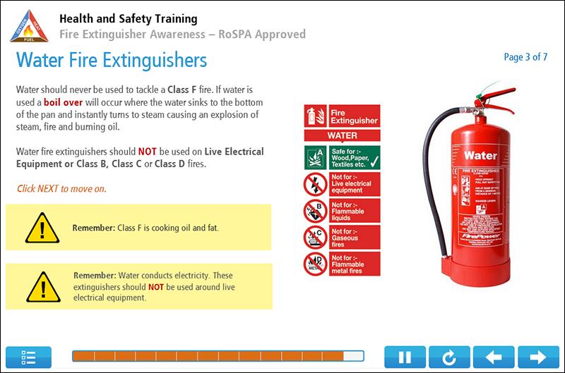 Fire Extinguisher Awareness Online Training Screenshot 1