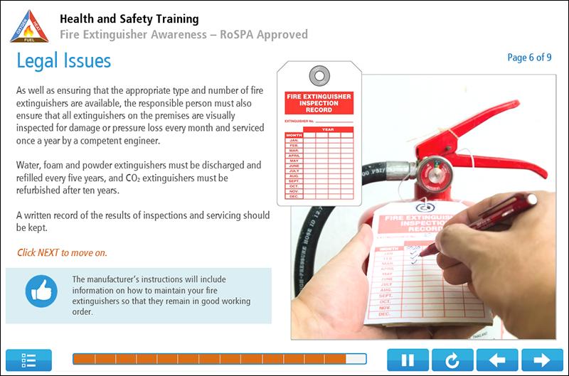 Fire Extinguisher Awareness Online Training Screenshot 2